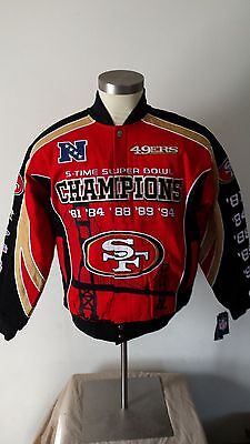 detailing 2a1a5 25a63 SAN FRANCISCO 49ERS 5-Time Superbowl Champions Jacket 6X SIZE ONLY