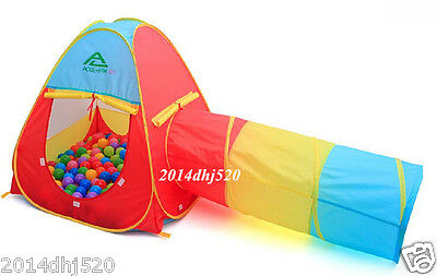 New Kids Play Tent Tunnel Children Toddler Pit Balls Pool Crawl and Play Hut