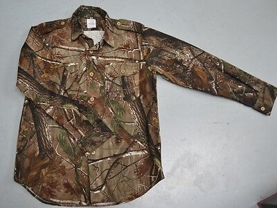 'REALTREE' LEAF CAMOUFLAGE PATTERN LONG SLEEVE SHIRT  -   Size S to 5XL