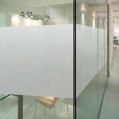 45cm x 3m Static Reusable Removable Sand Blast Plain Frosted Window Glass Film