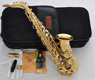 Professional TaiShan 5000 Model Alto Sax Gold Saxophone Germany Mouth With Case