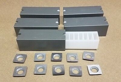 Byrd Shelix Cutterhead 4 sided Carbide Insert Cutters - Lot of 50 - USA