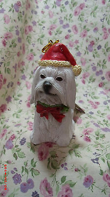 New Dog Shih Tzu  Santa Resin Ornament