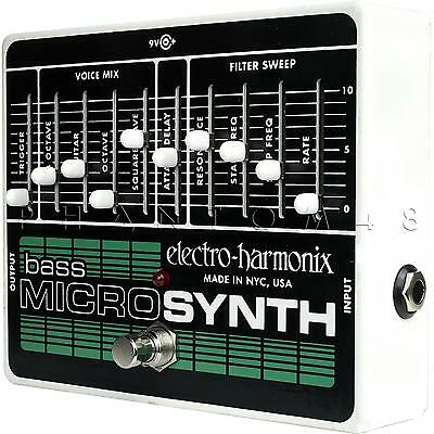 Electro-Harmonix Bass Microsynth Micro Synth EHX Guitar Synthesizer Pedal - NEW
