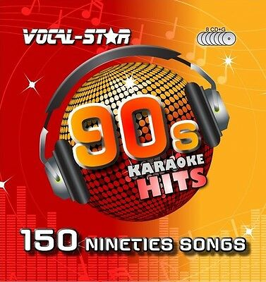 VOCAL-STAR 90s DECADES SONGS KARAOKE DISC PACK CD+G 8 DISCS 150 SONGS