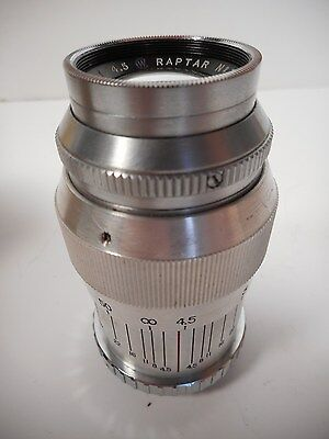 VINTAGE RAPTAR WOLLENSAK 101MM f/4.5 CAMERA LENS