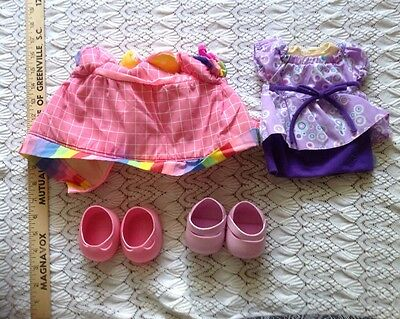 Cute Lot Of Cabbage Patch Doll Clothing And Shoes Tagged Clown Dress