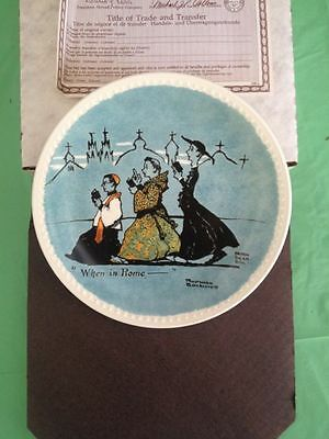 """Norman Rockwell Plate """"When in Rome"""" Collector's Plane NIB"""