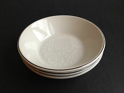MIDWINTER Stonehenge Winter Pattern 3 Coupe Cereal Soup BOWLS Off White FLORAL