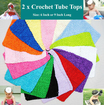 Crochet Stretchy Baby Girl Tutu Pettiskirt Tube Tops  Bodice Dress DIY Bulk Lot