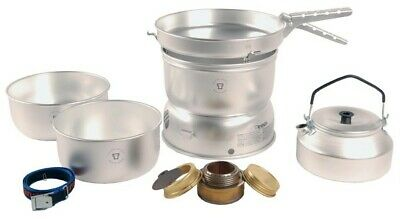Trangia 25-2 Ultralight Camping Stove Cooking Set & Kettle 3-4 people w/ Burner
