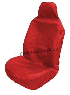 Audi A3 Cabriolet  Red Waterproof Front Seat Cover - Single