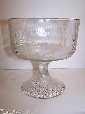 Indiana Hoosier Glass Tree Bark Clear Compote