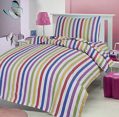 Love2Sleep COT BED BRUSHED COTTON FLANNELETTE SHEET SET: CANDY STRIPE