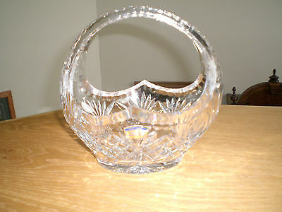 Beautiful Polonia Lead Crystal Basket