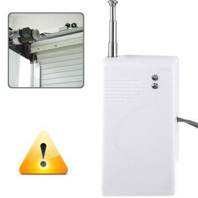 i-TECH White 433MHz Wireless Metal Rolling Shutter Gates Garage Door Sensor for