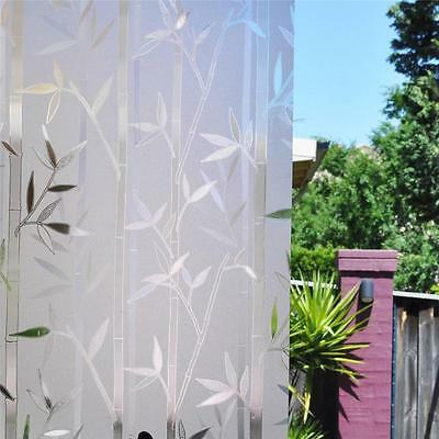 90cm x 5m Bamboo Static Reapply Reusable Removable Frosted Window Glass Film
