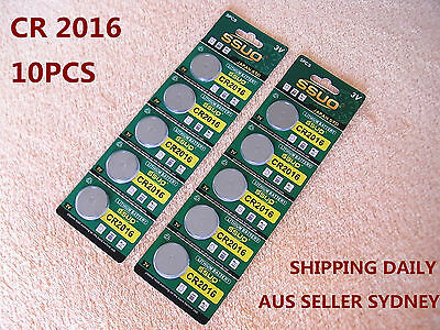 10pcs CR2016 Button Cell Battery Coin Lithium Battery 3V Watches Toy Calculator