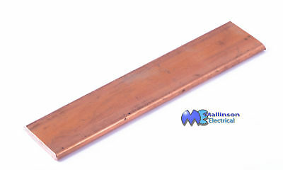 Copper Flat Bar High Purity  25mm x 4mm cross section 120mm Long