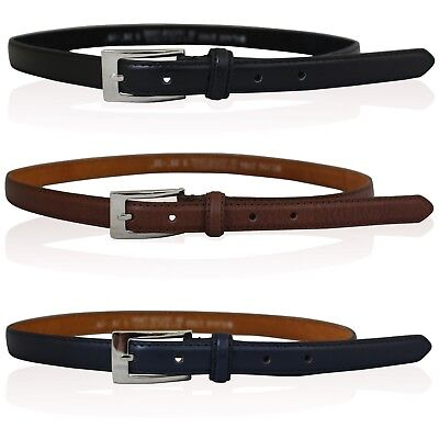 "New Ladies Leather Skinny Belts Ladies Stylish Leather Belt 26"" To 41"" Waist"
