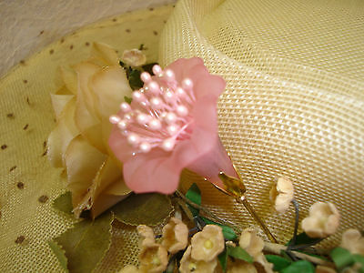 HUGE PINK MORNING GLORY FLOWER HATPIN VINTAGE ANTIQUE STYLE AGGIE'S HAT PINS