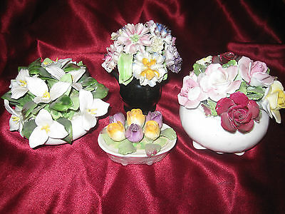 Mixed Lot of Porcelain Flower Decorations, Royal Doulton, Royal Adderly, Aynsley