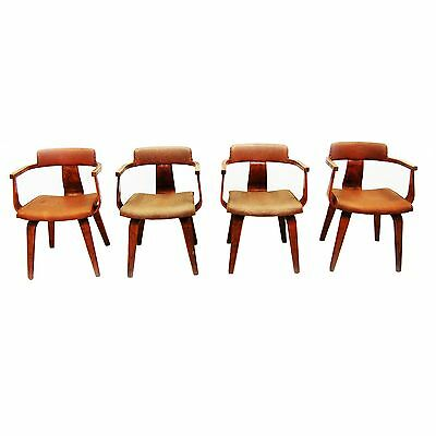Mid-Century Modern Set of 4 Thonet Chairs, Eames 1900-1950 #2125