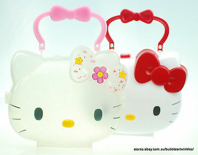 HELLO KITTY HANDBAG CASE lightweight plastic Authentic Sanrio Co 'Candy Cabinet'