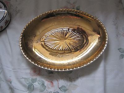 Crown Devon Victoriana gold coloured plate.