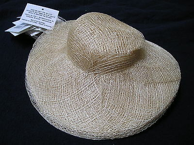 "WHOLESALE LOT 12 -  8"" Diameter Brim NEW SINAMAY  DOLL HATS Ready to decorate"