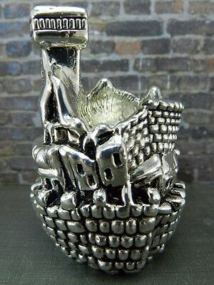 Sterling Silver Judaica Israel Holy Land Figural Candle Holder