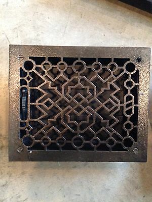 Gr 39 Antique Deco Cast-Iron Floor Great One Crack 8 X 10 Opening Antique