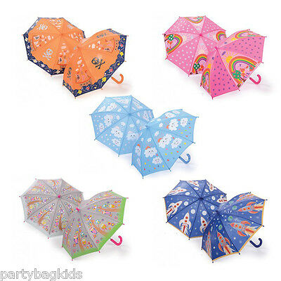 Colour Changing In Rain Umbrella Kids Wet Outdoor Christmas / Birthday Gift