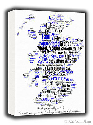 Personalised country map word art print 475 picclick uk personalised canvas mapany country word art unique gift birthdayleaving gift gumiabroncs Images