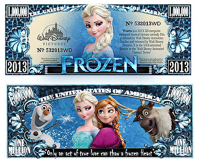 Frozen  - Disney Movie Character Million Dollar Novelty Money