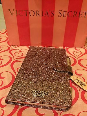 Victoria's Secret Sparkle Glitter Limited Edition Diary Journal Notebook Pen NWT