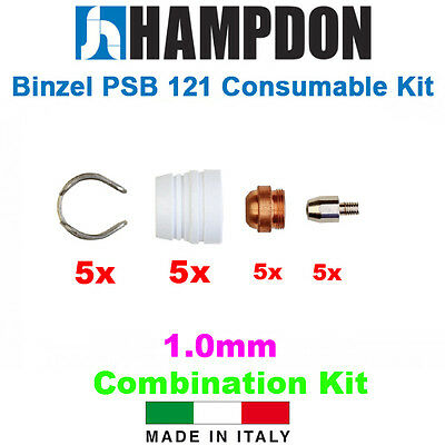 Binzel Style PSB 121 Consumable Kit – 20 Piece Kit – 1.0mm Tip Kit – Hampd