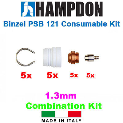 Binzel Style PSB 121 Consumable Kit – 20 Piece Kit – 1.3mm Tip Kit – Hampd