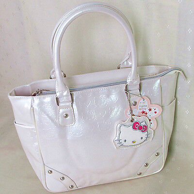 HelloKitty Handbag Tote Shoulder Bag 2015  New White Patent Leather