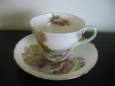 Shelley Heather China Cup & Saucer