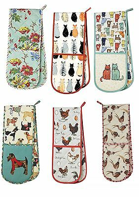Ulster Weavers Double Oven Gloves Cats Dogs Chickens Amelia Pheasants