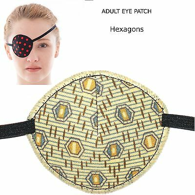 Medical Eye Patch, HEXAGONS, Soft & Washable, Sold to the NHS