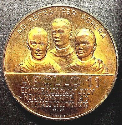 Apollo 11  July 1969  First On The Moon  38 Mm  Unc.