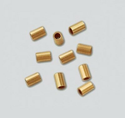 14K Gold Filled  Crimp Beads 2 x 3 MM (pkg. of  50) Free Shipping # 1113F