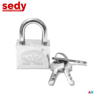 High Security Steel Padlock 40mm Shackle Stainless Antitheft Lock Cut Resistance