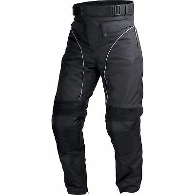 Motorcycle Cordura Waterproof Riding Pants Black with Removable CE Armor PT1