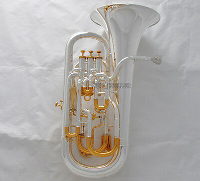 Professional Silver Plated Compensating Euphonium Trigger Key Horn With Case