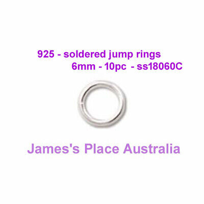 Closed Jump Rings - 925 stirling silver - varied styles & sizes