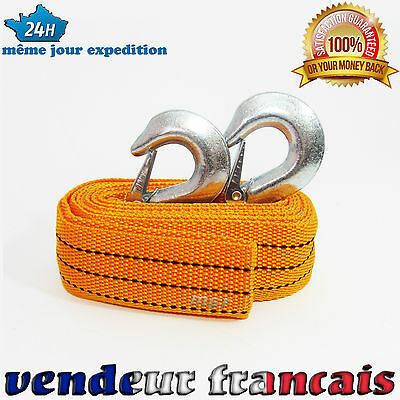Neuf Corde Cable Sangle De Remorquage Traction 2 Tonnes 2000 Kg
