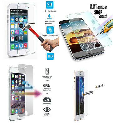 For Apple Iphone 6 6S Plus Real Tempered Glass Screen Protector Lcd Guard Film